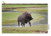 Bull Bison Shaking In Yellowstone National Park Carry-all Pouch