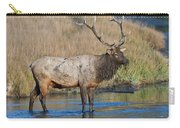 Bull Elk Crossing River Carry-all Pouch