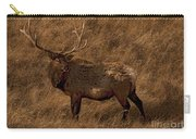 Bull Elk In Evening Light Carry-all Pouch