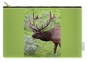 Bull Elk In Yellowstone Carry-all Pouch