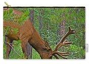 Bull Elk Near Maligne Canyon In Jasper Np-alberta Carry-all Pouch