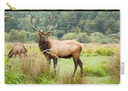 Bull Elk On Watch Carry-all Pouch
