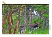 Bull Moose In Cape Breton Highlands Np-ns Carry-all Pouch