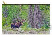 Bull Moose In Gros Ventre Campground In Grand Tetons National Park-wyoming Carry-all Pouch