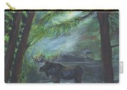 Bull Moose Pond Carry-all Pouch by Leslie Allen