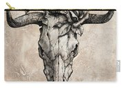 Bull Skull And Rose Carry-all Pouch