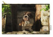 Bulldog In A Doorway Carry-all Pouch