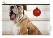 Holiday Bulldog Puppy  Carry-all Pouch