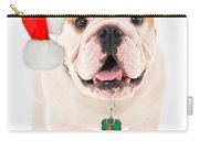 Bulldog Santa Carry-all Pouch