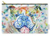 Bulldog - Watercolor Portrait Carry-all Pouch
