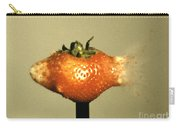 Bullet Piercing A Strawberry Carry-all Pouch