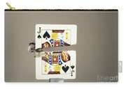 Bullet Piercing Playing Card Carry-all Pouch by Gary S. Settles