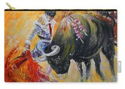Bullfighting In Neon Light 02 Carry-all Pouch