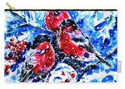 Bullfinches Carry-all Pouch by Zaira Dzhaubaeva