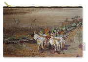 Bullock Cart On Cross Country Road  Carry-all Pouch
