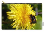 Bumble Bee And Dandelion Carry-all Pouch