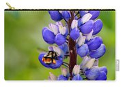 Bumble Bee And Lupine Carry-all Pouch