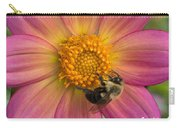 Bumble Bee Dahlia Carry-all Pouch