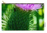 Bumble Bee On Bull Thistle Plant  Carry-all Pouch