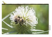 Bumble Bee On Button Bush Flower Carry-all Pouch