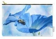Bumblebee And Blue Morning Glory Carry-all Pouch