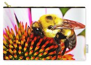 Bumblebee On Echinacea  Carry-all Pouch