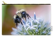 Bumblebee On Thistle Blossom Carry-all Pouch