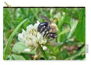 Bumblebee On White Clover Carry-all Pouch