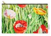 Bunch Of Poppies II Carry-all Pouch