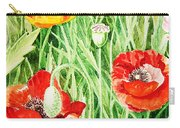 Bunch Of Poppies IIi Carry-all Pouch