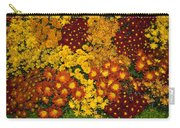 Bunches Of Yellow Copper Orange Red Maroon - Hot Autumn Abundance Carry-all Pouch