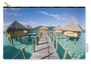 Bungalows Over Ocean Carry-all Pouch