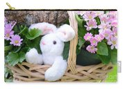 Bunny In A Basket Carry-all Pouch