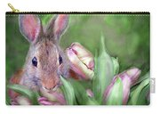 Bunny In The Tulips Carry-all Pouch