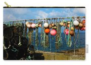 Buoys And Pots In Sennen Cove Carry-all Pouch by Terri Waters