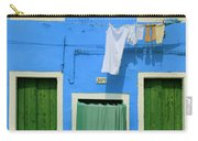 Burano Blue And Green Carry-all Pouch