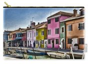 Burano Italy - Colorful Homes Carry-all Pouch