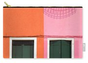 Burano Pink And Orange Carry-all Pouch