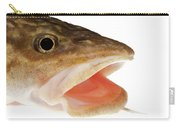 Burbot Lota Lota Head Isolated On White Carry-all Pouch