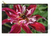 Burgundy Bee Carry-all Pouch