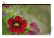 Burgundy Calibrochoa Blank Greeting Card Carry-all Pouch