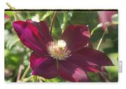 Burgundy Clematis Profile   # Carry-all Pouch