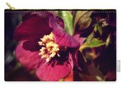 Burgundy Hellebore Flower Carry-all Pouch