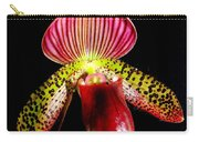 Burgundy Lady Slipper Carry-all Pouch