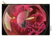 Burgundy Orchids In A Glass Globe Carry-all Pouch