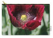 Burgundy Poppy Carry-all Pouch