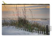 Buried Fence And Sea Oats Sunrise Carry-all Pouch