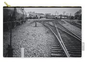 Burlington Vermont Train Yard Vintage Grunge Black And White Carry-all Pouch
