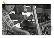 Burmese Woman Working With A Handloom Weaving. Carry-all Pouch by RicardMN Photography