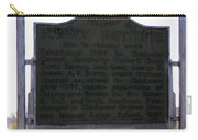 Burney Institute Historical Sign Carry-all Pouch